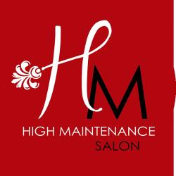 high maintenance salon logo small